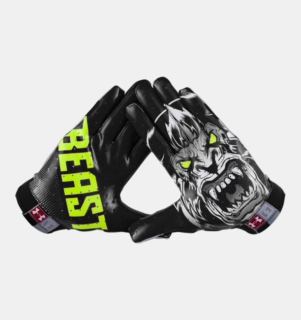 men�s under armour174 alter ego beast f4 football gloves