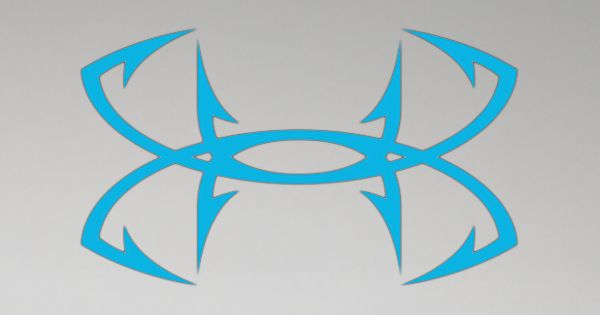 Ua big fish hook logo decal 12 inch under armour us for Under armour fish hook