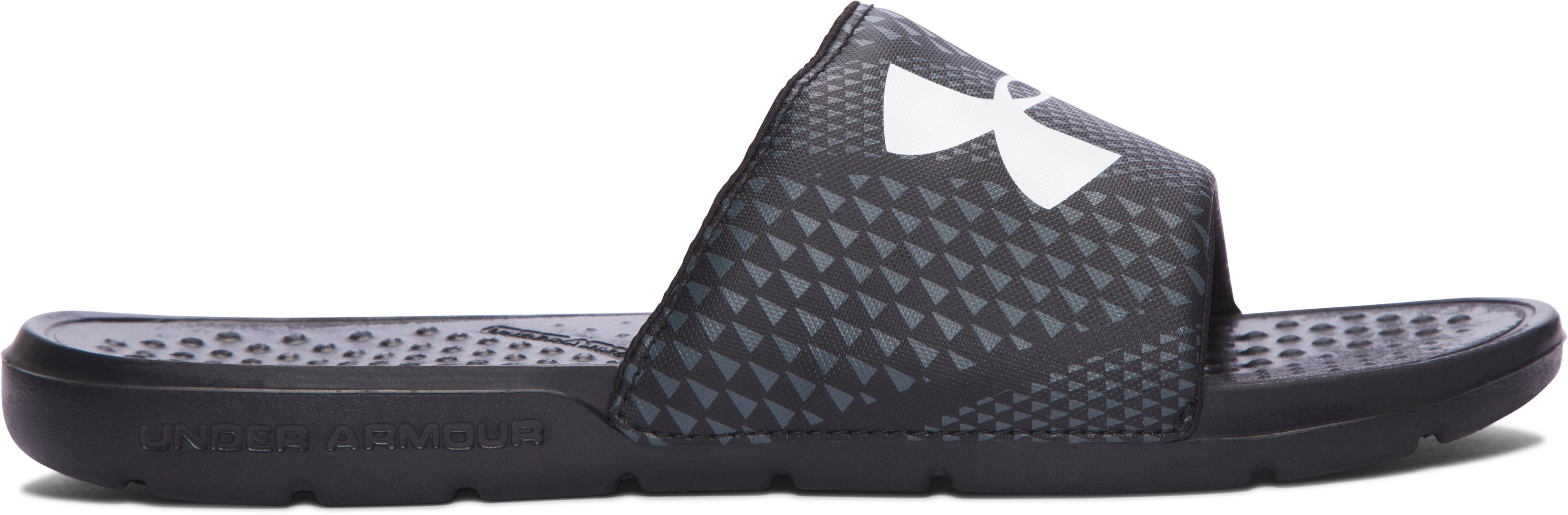 Men's UA Strike Micro Geo Slides, 360 degree view