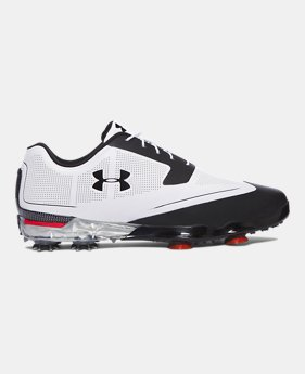 언더아머 UA 투어 팁스 남성 골프화 Underarmour Mens UA Tour Tips Golf Shoes, White (1288575-101)