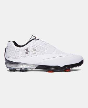 언더아머 UA 남성 투어 팁스 남성 골프화 Underarmour Mens UA Tour Tips Golf Shoes, White (1288575-102)
