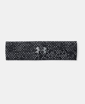 언더아머 UA 헤드밴드 Under Armour Womens UA Perfect Headband 2.0,Black (1291067-003)