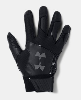 언더아머 UA 클린업 야구 배팅장갑 Under Armour Men's UA Yard Baseball Gloves,Black (1299538-003)