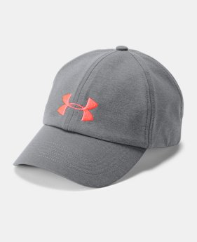 언더아머 모자 UA 볼캡 Under Armour Women's UA Microthread Renegade Cap,Graphite (1306289-040)