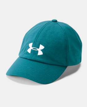 언더아머 모자 UA 볼캡 Under Armour Women's UA Microthread Renegade Cap,TOURMALINE TEAL (1306289-716)