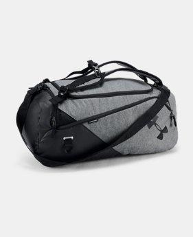 언더아머 UA UA 남성 SC30 컨테인 백팩 더플백 블랙 그레이 Under Armour Mens UA Contain 4.0 Backpack Duffle