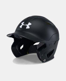 언더아머 야구 헬멧 Under Armour Mens UA Converge Batting Helmet Matte,Black (1319025-001)
