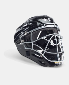 언더아머 UA 포수 헬멧 Under Armour Mens UA Victory Catchers Helmet,Black (1319424-001)