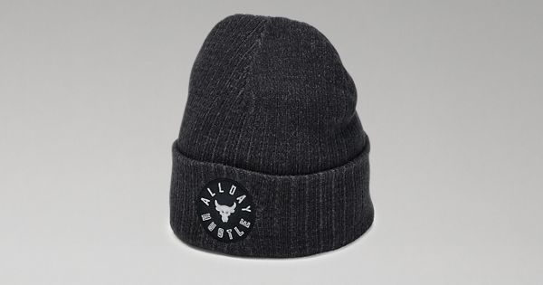 a9d3aaac1009a ... closeout mens ua x project rock adh truckstop beanie under armour us  7ee1e fca3e