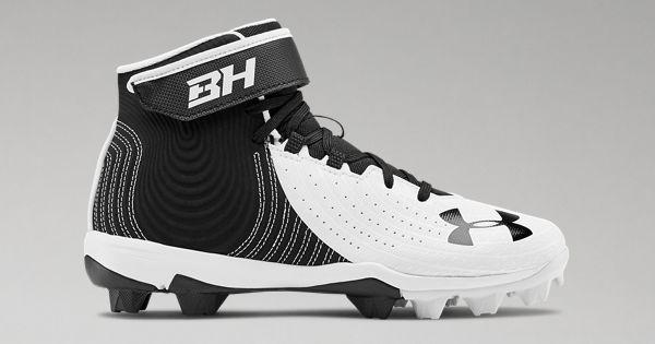 Baseball Shoe Under Armour Boys Harper 4 Mid RM Jr 5.5 100 //White