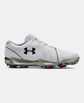 언더아머 Under Armour Mens UA Spieth 3 Wide E Golf Shoes,White (3022260-102)