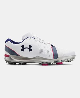 언더아머 UA 남성 스피스3 골프화 LE - Under Armour Mens UA Spieth 3 LE Golf Shoes,White (3022369-104)