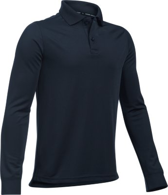 Under Armour Boys' UA Uniform Long Sleeve Polo