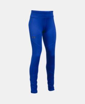 언더아머 UA 걸즈 바지 Under Armour Girls ColdGear Leggings,LAPIS BLUE (1298850-984)