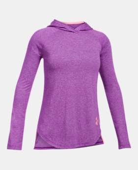 언더아머 UA 걸즈 후드티 Under Armour Girls Threadborne Long Sleeve Hoodie