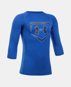 언더아머 Under Armour Boys UA Plate ¾ Sleeve T-Shirt
