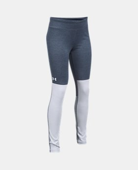 언더아머 걸즈 반바지 Under Armour Girls UA Elevated Training Plush Leggings