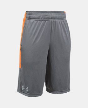 언더아머 UA 보이즈 UA 반바지 Under Armour Boys UA Stunt Shorts,Graphite (1299989-041)