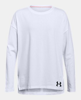 언더아머 UA 걸즈 긴팔 티셔츠 Under Armour Girls UA Finale Long Sleeve
