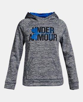 언더아머 Under Armour Girls Armour Fleece Big Logo Printed Hoodie