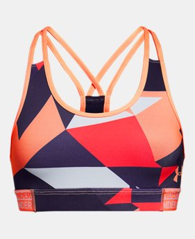 언더아머 UA 걸즈 스포츠 브라 Under Armour Girls HeatGear Armour Printed Bra