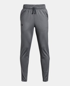 언더아머 UA Under Armour Boys UA Brawler Tapered Pants,Graphite (1316475-040)
