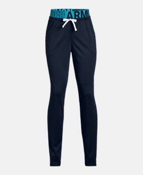 언더아머 걸즈 바지 Under Armour Girls UA Tech Pants,Academy (1317614-408)