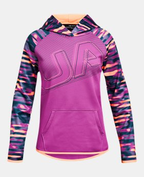 언더아머 UA 걸즈 후드티 Under Armour Girls Armour Fleece Big Logo Hoodie