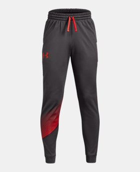 언더아머 UA 보이즈 UA 조거 팬츠 Under Armour Boys Armour Fleece Joggers,Charcoal (1318233-019)