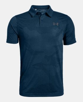 언더아머 Under Armour Boys UA Jordan Spieth Threadborne Sprocket,Techno Teal (1325651-489)