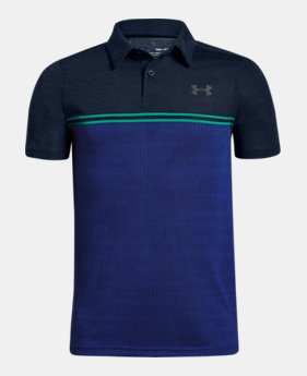 언더아머 Under Armour Boys UA Jordan Spieth Threadborne Callibrate Polo
