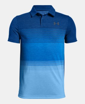 언더아머 Under Armour Boys UA Jordan Spieth Threadborne Gradient Polo,Royal (1325653-400)