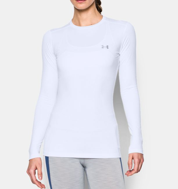 Women s coldgear fitted long sleeve crew under armour us for Under armour fitted t shirt