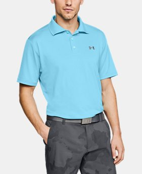 언더아머 UA Under Armour Mens UA Performance Polo,Venetian Blue (1242755-448)