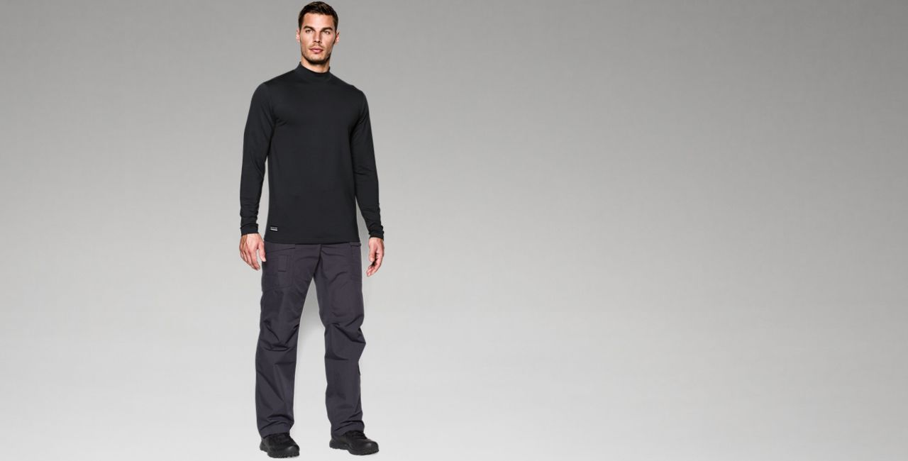 Ua Cold Gear® Infrared Tactical Fitted Mock Men's  Tactical Long Sleeve Shirt by Under Armour