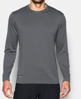 언더아머 UA Under Armour Mens Tactical UA Tech Long Sleeve T-Shirt,Graphite (1248196-040)