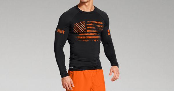 Men S Ua Tough Mudder Flag Compression Long Sleeve Under