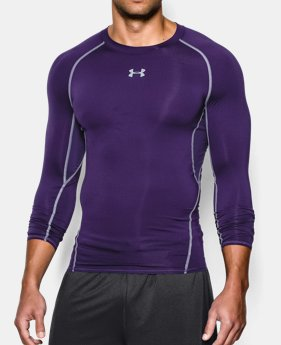 언더아머 UA Under Armour Mens UA HeatGear Armour Long Sleeve Compression Shirt