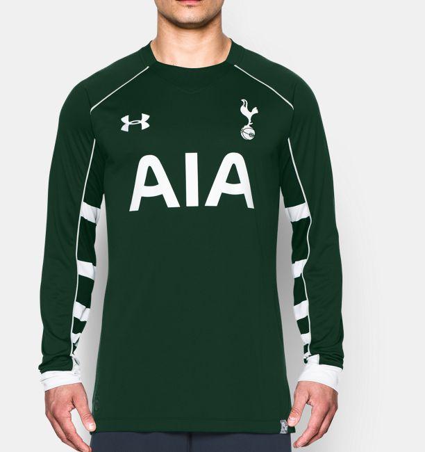Men s tottenham hotspur 15 16 goalkeeper replica long for Tottenham under armour polo shirt