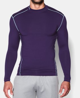 언더아머 UA Under Armour Mens UA ColdGear Armour Compression Mock