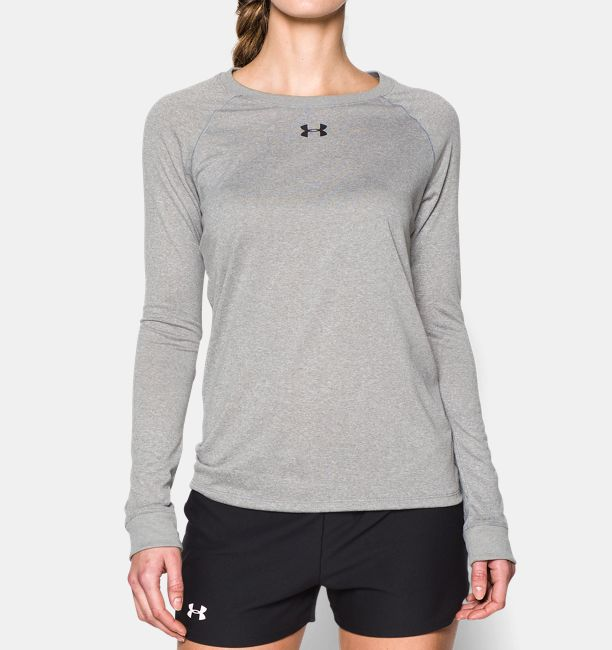 Women s locker long sleeve t shirt under armour us for Women s running shirts