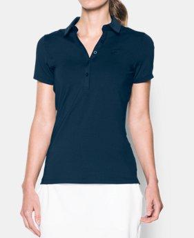 언더아머 여성 골프의류 UA Zinger 폴로 반팔티 아카데미, Womens UA Zinger Short Sleeve Polo