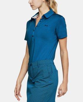 언더아머 여성 골프의류 UA Zinger 폴로 반팔티 모로칸 블루, Womens UA Zinger Short Sleeve Polo