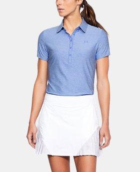언더아머 여성 골프의류 UA Zinger 폴로 반팔티 탤크블루, Womens UA Zinger Short Sleeve Polo