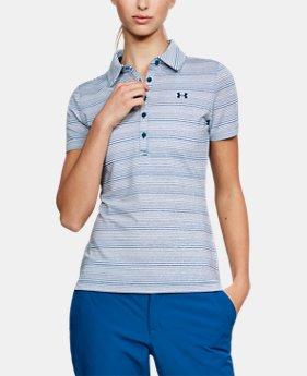언더아머 UA 여성 골프의류 UA Zinger Novelty 폴로 반팔티 모로칸블루, Womens UA Zinger Short Sleeve Polo
