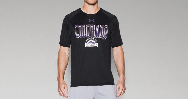 Men 39 S Colorado Rockies Team Tech T Shirt Under Armour Us