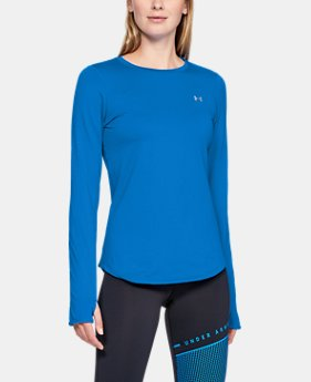 언더아머 UA Under Armour Womens ColdGear Armour Fitted Crew