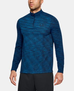 언더아머 UA UA 긴팔 티셔츠 Under Armour Mens UA Threadborne Seamless ¼ Zip