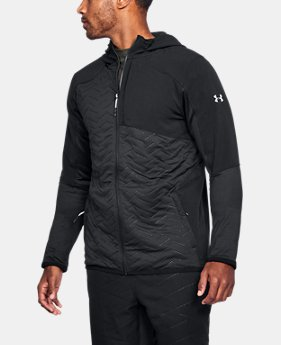 언더아머 Under Armour Mens ColdGear Reactor Fleece Insulated Full Zip Hoodie