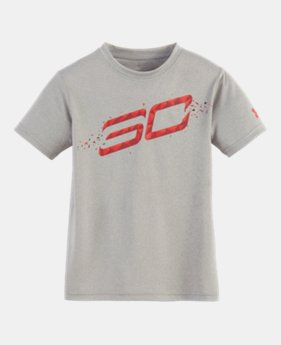 언더아머 남아용 반팔 티셔츠 Under Armour Boys Pre-School SC30 Player Short Sleeve Shirt